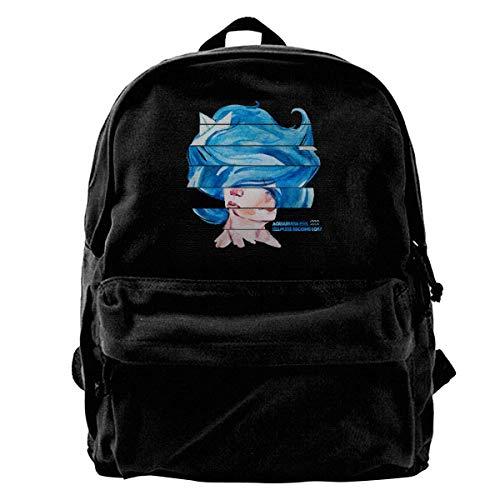 Mochila Escolar, Canvas Backpack ASquarians Unique Print Style,Fits 14 Inch Laptop,Durable,Black