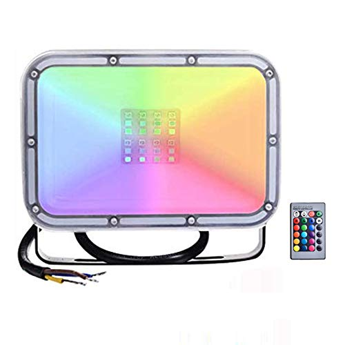 Sararoom 20W Focos LED RGB de Colores Dimmable, IP67 Impermeable Proyectores LED...