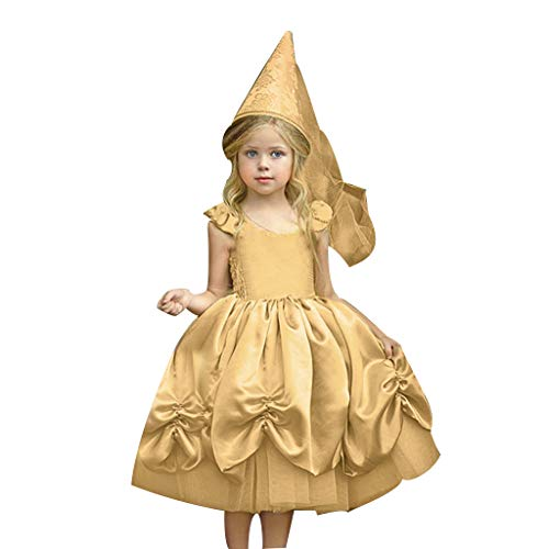 Mädchen Kostüm Prinzessin Kleid Märchen Cosplay Halloween Kostüm Partei Outfit Festival Karnerval Geburtstag Partykleid Fotoshooting Kinder Kleinkinder Weihnachten Dress Up Lang Kleid (Kein Hut)