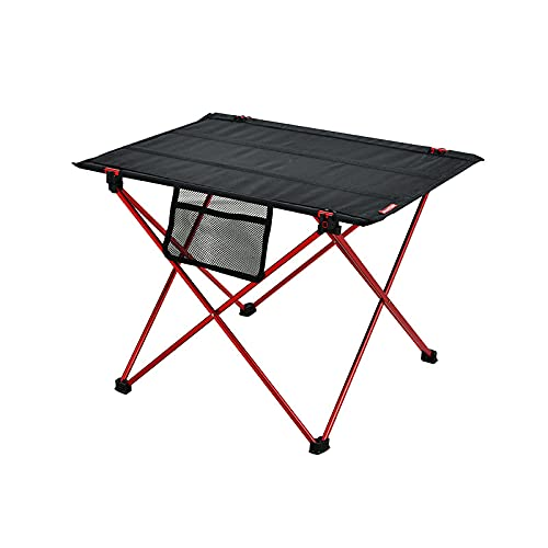Mesa de camping portátil, ligera y plegable con bolsa de aluminio para mesa, ideal para cenar, cortar, cocinar, picnic, cocinar al aire libre, playa, senderismo, pesca