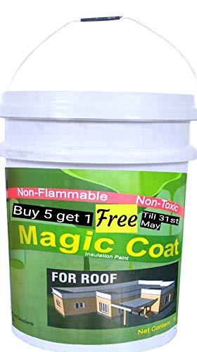 Magic coat Heat Reflective Cool Paint for Roof (1 L, White)