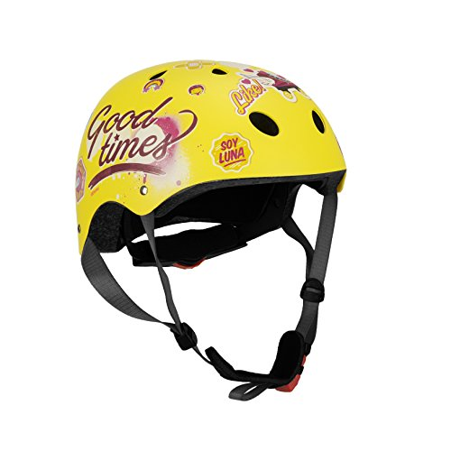 Disney Kinder Skate Helmet Soy Luna Sports, Mehrfarbig, Gr.54-58cm (Herstellergröße:S)