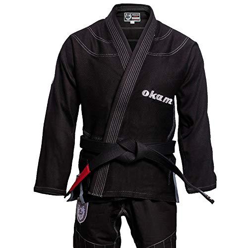 OKAMI Fightgear BJJ Gi Shield, Herren Gi Kimono Jujutsu Anzug für Erwachsene (A1L)