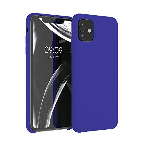 kwmobile Cover Compatibile con Apple iPhone 11 - Cover Custodia in Silicone TPU - Back Case Protezione Cellulare Blu Elettrico