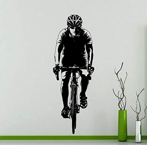 Racefiets Fiets Atleet Muur Sticker Slaapkamer Woonkamer Keuken Home Decor Behang