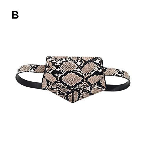 Popchilli Snake Patroon Riem Tas Voor Vrouwen En Dames, Mini, Compact, Veelzijdig, Elegant Ontwerper Riem Tas, Modieuze Zwarte Schoudertas