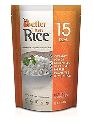 Better Than Rice. Certified Organic. Vegan, Gluten-Free, Non-GMO, Konjac Rice 14 Ounces (6 pack)