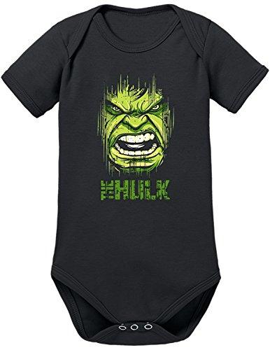 TShirt-People Body para bebé de Hulk Face negro 18-24 Meses