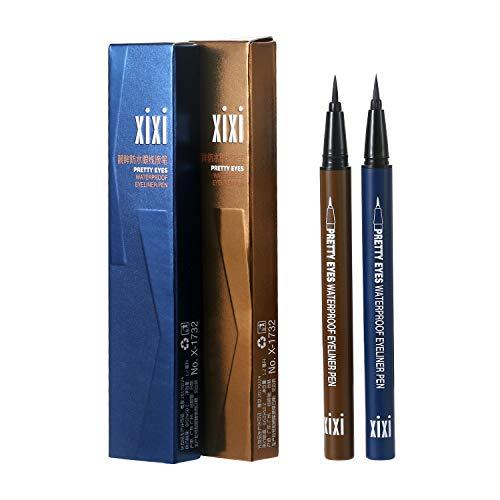 Vtrem 2 Pack Eyeliner Pencil Navy Blue/Light Brown Waterproof Liquid Eye...