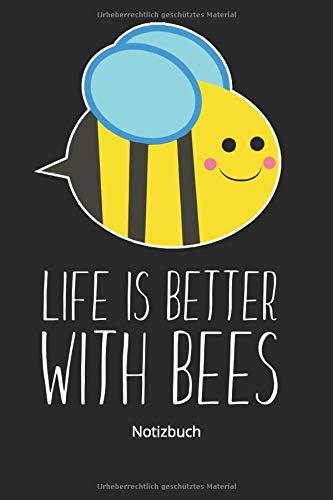 Notizbuch: Bienen Insekten Notizbuch für Honig Bienen Liebhaber (Liniertes Notizbuch mit 100 Seiten für Eintragungen aller Art)
