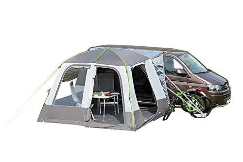 dwt Bus vorzelt aufblasbar Isola Air Turbo 300x300cm freistehend grau Camping Outdoor Luftkammern Zelt 10 cm Starke Luftschläuche Tunnelzelt Doppelhubpumpe leicht Tent