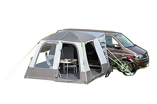 dwt Buszelt Isola Air Turbo 300x300cm freistehend Mobilzelt grau Camping Outdoor Luftkammern Zelt 10 cm Starke Luftschläuche aufblasbar Tunnelzelt Doppelhubpumpe leicht Tent