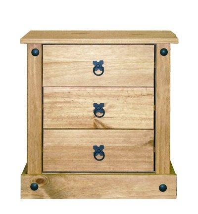 Mercers Furniture Corona Budget Nachttisch, Holz, Antique Wax, 52 x 38 x 54 cm
