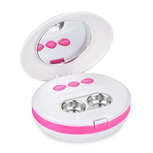 BlumWay Ultraschall Reinigungsmaschine für Kontaktlinsen, Ultraschall Automatischer Reiniger, Kontaktlinsenreiniger mit USB-Ladegerät, klein und tragbar, eignet sich zur Reinigung aller Kontaktlinsen