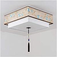 PLLP 家庭用装飾シャンデリア、中国の錬鉄製刺繍天井ランプ寝室研究ダイニングルームリビングルーム装飾ランプ40cm,B-50cm