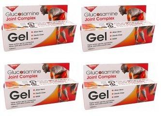 OPTIMA - GLUCOSAMINA JOINT COMPLEX GEL 4 CONF DA 125 ML - per dare sollievo in caso di dolore e infiammazione, non provoca irritazioni