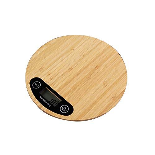 CHICTI Balanza de Cocina electrónica de 5kg / 1g, Alta precisión Comida Escala de Hornear, Números Escala de Plataforma Pequeño