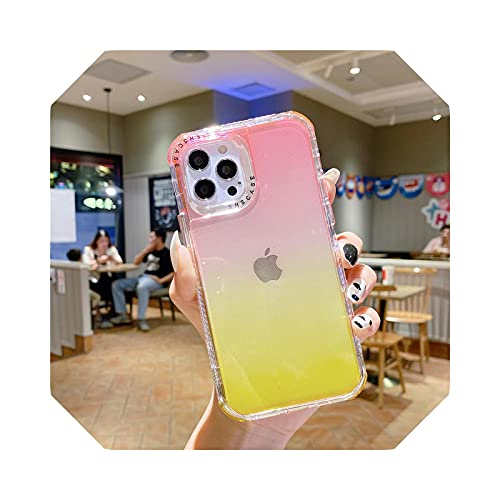 Dual Layer - Carcasa protectora para iPhone 11 Pro Max 12Mini 12 Pro Max Transparente Soft Cover para iPhone 11 12-T4-For iPhone 12 Mini