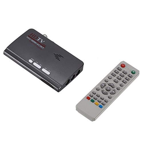 OocciShopp Receptor terrestre Digital, Vga Dvb-T2 Decodificador de Receptor de señal de TV Digital Mini TV Set Top Box (Gris)