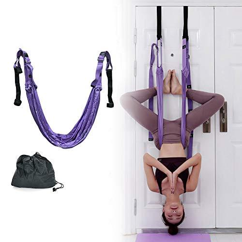 Auveach Yoga Stretching Strap Adjustable Leg Stretcher Waist Back Stretch Band...