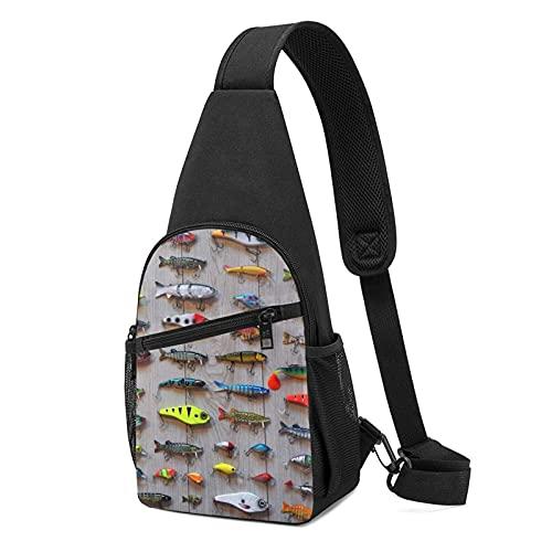 DJNGN El mejor cebo para la pesca Sling Bag Crossbody Travel Senderismo Pecho Daypack