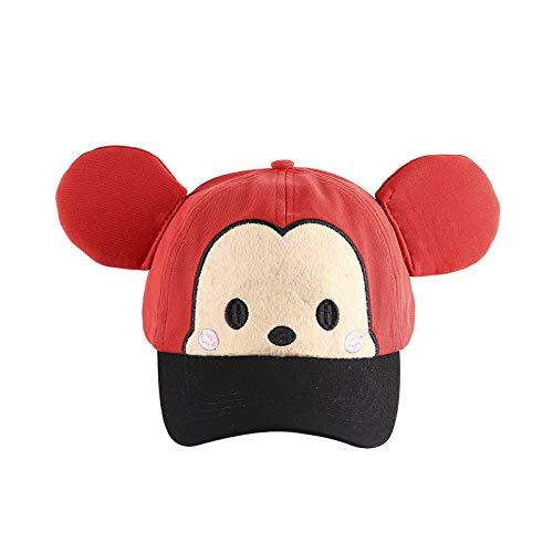 Sombrero para niños ratón de Dibujos Animados de Primavera versión Coreana de algodón Puro Sombrero de bebé Masculino y Femenino Nueva Gorra de béisbol Linda Marea