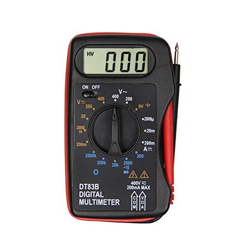 Abilie Digitales Multimeter Hand-Tester Mini Pocket LCD Display Batteriekapazitätserkennung