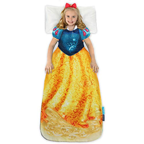 Blankie Tails   Disney Princess Dress Wearable Blanket - Double Sided Super Soft and Cozy Princess Minky Fleece Blanket - Machine Washable Fun Disney Blanket for Kids (Snow White)