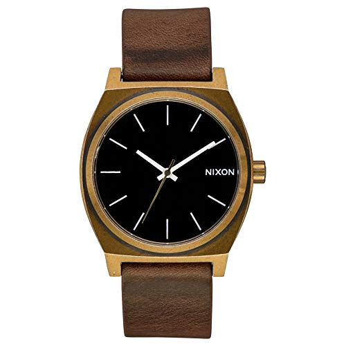 Nixon Time Teller Reloj para Mujer Analógico de Cuarzo japonés con Brazalete de Piel de Vaca A0453053