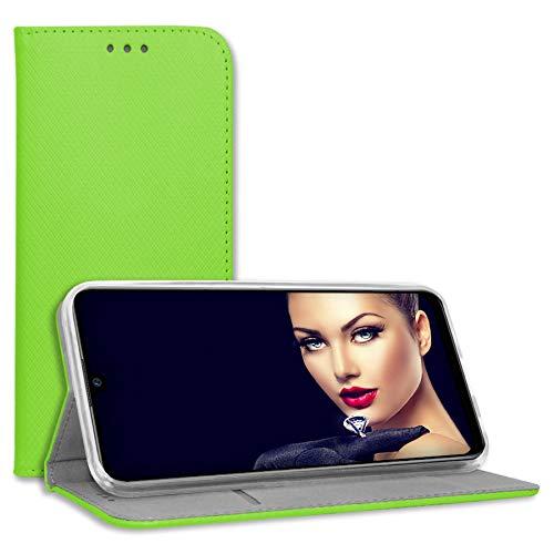 mtb more energy® Schutz-Tasche Bookstyle für LG Q7, Q7+, Q7 Plus (5.5'') - grün - Kunstleder - Klapp-Cover Hülle Hülle