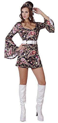 Bristol Novelty AC865 Robe Disco, Multicolore, Taille 38-42, Size 10-14
