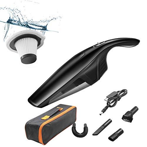 FDSNFV Aspiradora de Mano InaláMbrica, Potente 120W, BateríA Recargable USB, Aspiradora en Seco y HúMedo para AutomóVil, Hogar, Mascotas y Oficina