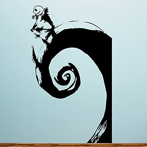 Nightmare Before Christmas Jack Skellington - Black Vinyl Wall Decal 60 Inches Tall