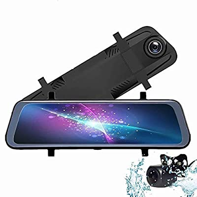 SPRIS CHEZAI Dash Cams Car Camera, Full-Screen Touch DVR Front and Rear Dual-Lens Car Intelligent HD Streaming Media Recorder, Parking Monitoring 170° Wide-Angle Lens from SPRIS