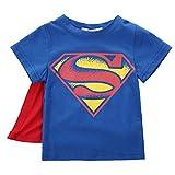 Camiseta de manga corta para niño o niño, diseño de Superman azul 4-5 años