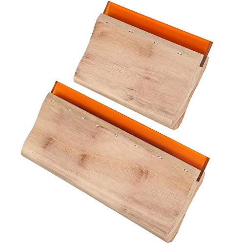 distincty 2 rascadores de serigrafía de madera para serigrafía