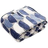 ナイスデイ 毛布 bowl柄ネイビー シングル (120×200cm) yucuss ずっとふれていたい 筒型毛布 北欧デザイン 3609F8K0