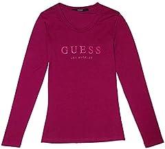 Guess Camiseta Manga Larga Mujer Púrpura
