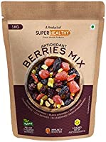 Super Healthy Berries Mix - Dried Mixed Berries | Organic Berry Mix | 7+ Varieties Like Cranberries, Blueberries,...