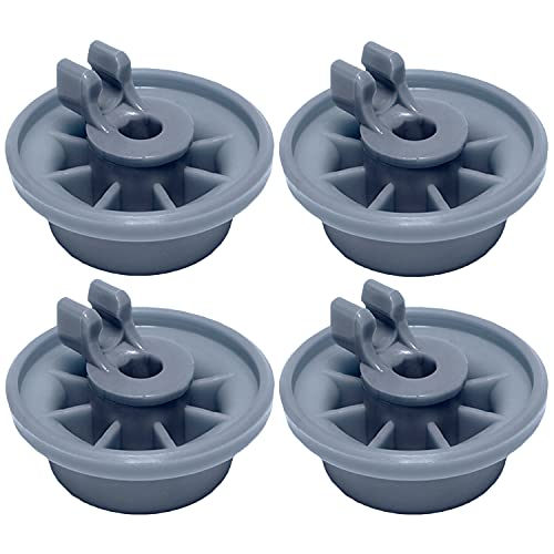 165314 Lower Dishrack Wheel (4-Pack) by PartsBroz - Compatible with Bosch Dishwashers - Replaces 00165314, AP2802428, 00420198, 420198, 423232, AH3439123, EA3439123, PS3439123, PS8697067