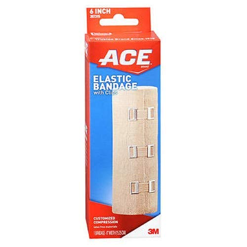 Ace Elastic Bandage with Clips 6-Inch, Pack of 6