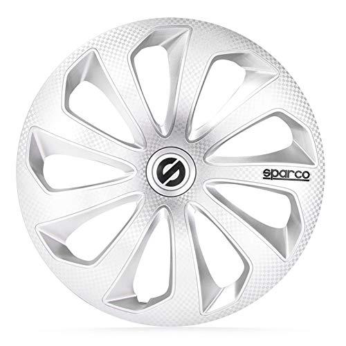 SPARCO SP 1374SVC Jeu d'enjoliveurs Sicilia 13-inch Argent/carboné
