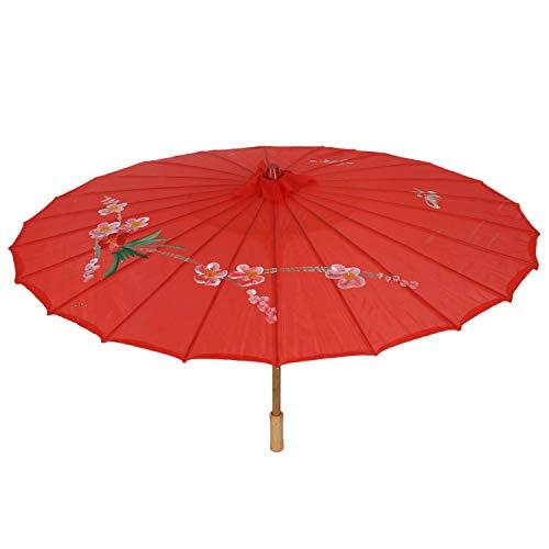 Ctzrzyt R Pflaume Muster Roter Tanz Regenschirm 31.5