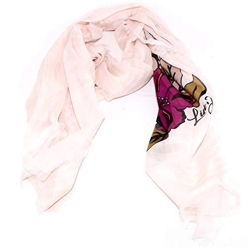 Liu Jo sjaal rechthoekig flower 3A0025 T0300 wolwit