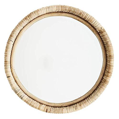 Madam Stoltz spiegel rond om op te hangen van bamboe, Ø30cm
