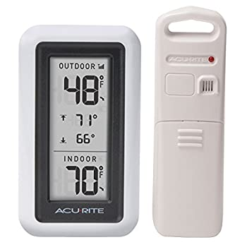 AcuRite Digital Thermometer with Indoor and Outdoor Temperature and Daily High and Lows  00424CA