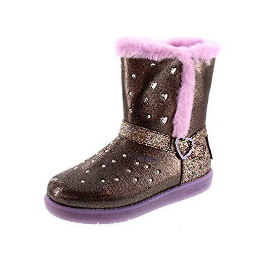Skechers - S Lights Sparkle HEARTZ 20058L - Gun Metal Purple, Schuhgröße:EUR 31