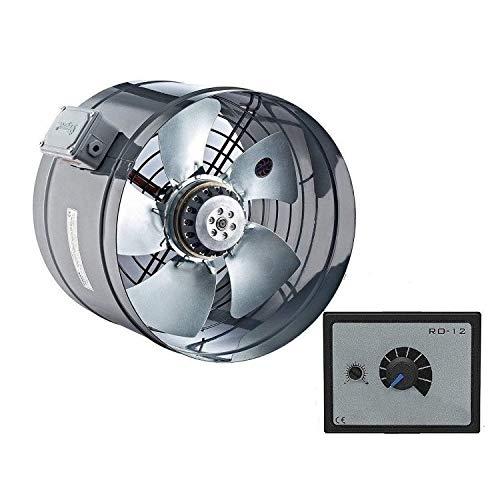 250mm Ventiladores Industrial Tubo Canal Extractor con 500W REGULADOR velocidad Ventilador De Extracción Para Aticos ventilacione canalizados 230v 25cm