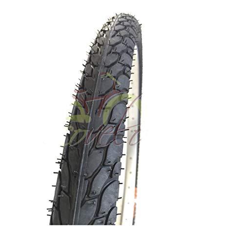 ECOVELO 1 Copertone 24 x 1.75 (44-507) per Bici Graziella, City Bike | Pneumatico Stradale Nero in Gomma Bicicletta