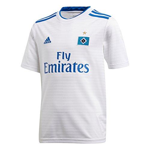 adidas Jungen Hamburger SV Home Kurzarm Trikot, White/HSV Blue, 176